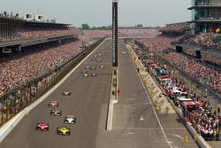 Dario Franchitti, Target Chip Ganassi Racing and Ed Carpenter, Sarah Fisher Racing