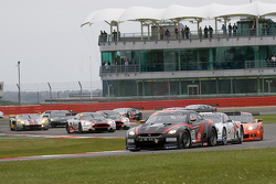 #23 JR Motorsports Nissan GT-R GT1: Michael Krumm, Lucas Luhr takes the lead after the restart