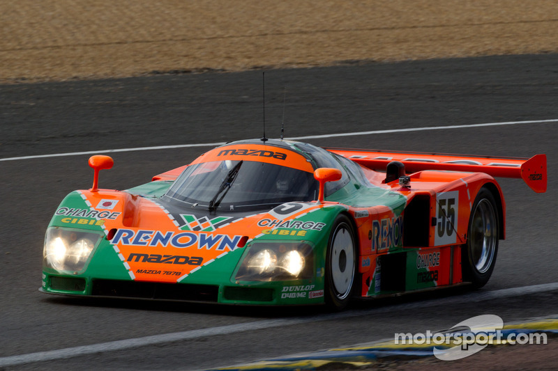 The Mazda 787B  winner of the 1991 24 Hours of Le Mans, driven by Patrick Dempsey