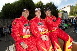 Rui Aguas, Robert Kauffman and Michael Waltrip