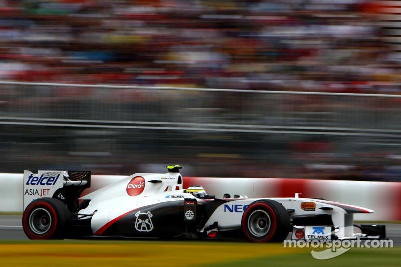 2011: Педро де ла Роса вместо Серхио Переса (Sauber, Гран При Канады)