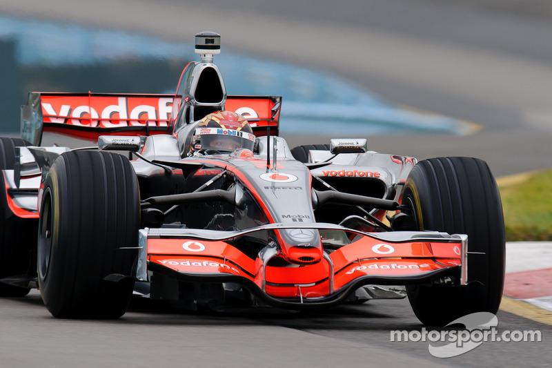 Tony Stewart in Lewis Hamilton's McLaren