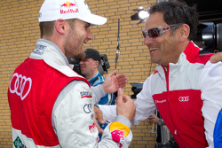 Race winner Martin Tomczyk, Audi Sport Team Phoenix celebrates with Hans-Jürgen Abt