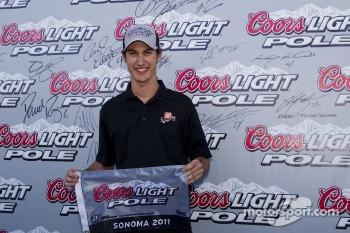 Pole winner Joey Logano, Joe Gibbs Racing Toyota