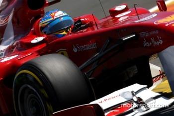 Ferrari has problems with the hard Pirellis