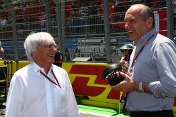 Bernie Ecclestone with Ron Dennis