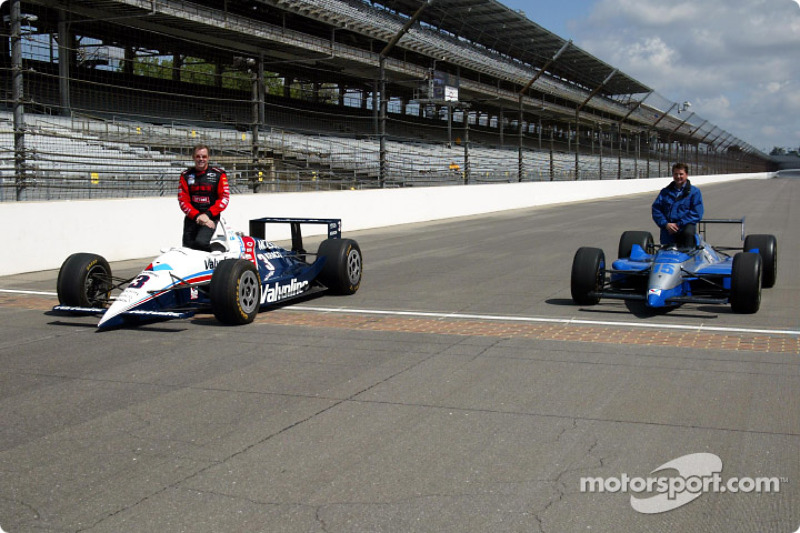 Al Unser Jr. and Scott Goodyear who were involved in the closest finish ever at the Indy 500 in 1999