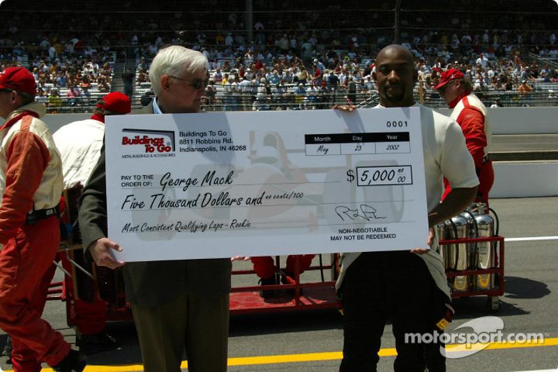 George Mack receiving an award