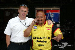 Kelley Racing's Jeff Darks and Carlos Fernandez