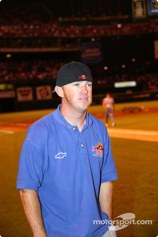 Visite du terrain de baseball des St. Louis Cardinals: Buddy Rice