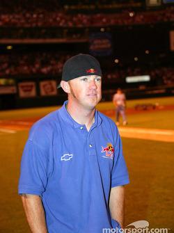 Visit at a St. Louis Cardinals baseball game: Buddy Rice