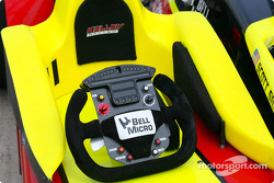 Kelley Racing car's steering wheel