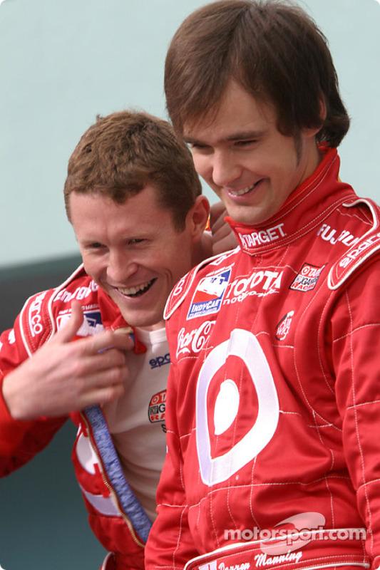 Photoshoot avec les pilotes Toyota en IRL : Scott Dixon et Darren Manning