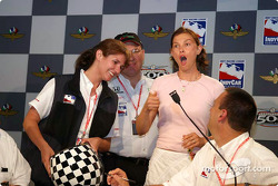 Ashley Judd reacts to the draw
