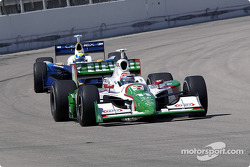 First lap: Tony Kanaan leads Vitor Meira