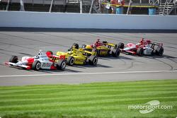 Sam Hornish Jr., Tomas Scheckter, Bryan Herta and Dan Wheldon