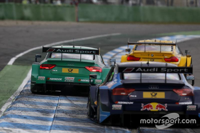Эдоардо Мортара, Audi Sport Team Abt Sportsline, Audi RS 5 DTM; Рене Раст, Audi Sport Team Phoenix, Audi RS 5 DTM