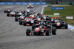 Lance Stroll, Prema Powerteam Dallara F312 - Mercedes-Benz leads.