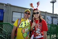 Fans van Valentino Rossi, Yamaha Factory Racing, Marc Marquez, Repsol Honda Team