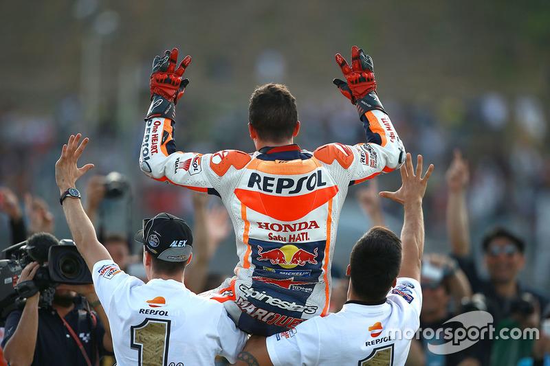 Marc Marquez ganador de la carrera, Repsol Honda Team