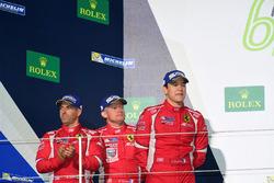 Podium GTE AM: second place #83 AF Corse Ferrari 458 Italia: Francois Perrodo, Emmanuel Collard, Rui Aguas