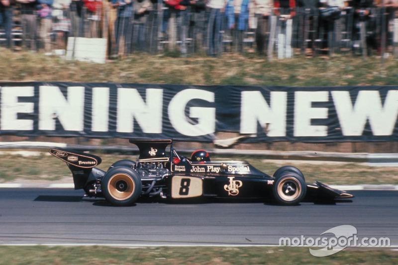 Emerson Fittipaldi: campeón en 1972 y 1974, 14 victorias