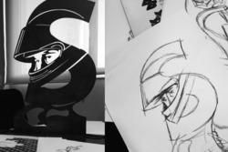 Proyecto y prototipo de las estatuas de Ayrton Senna