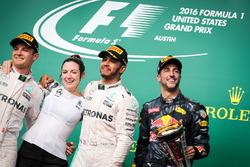 Nico Rosberg, Mercedes AMG Petronas F1 W07 Victoria Vowles,  Lewis Hamilton, Mercedes AMG F1 W07  and Daniel Ricciardo, Red Bull Racing RB12