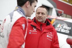 Craig Breen, Citroën DS3 WRC, Abu Dhabi Total World Rally Team with Yves Matton, Citroën Motorsport Director