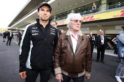 Sergio Pérez, Sahara Force India F1 con Bernie Ecclestone