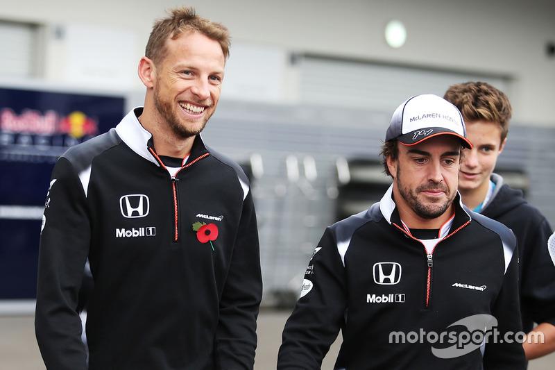 Jenson Button, McLaren y Fernando Alonso, McLaren