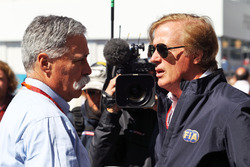 (L to R): Chase Carey, Formula One Group Chairman with Danny Sullivan, FIA Steward