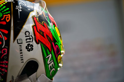 The helmet of Sergio Perez, Sahara Force India F1