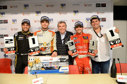 Press Conference: Race winner and Champion Tom Dillmann, AVF; second place Roy Nissany, Lotus; third place Pietro Fittipaldi, Fortec Motorsports with Adrian Valles