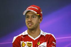 Sebastian Vettel, Ferrari in der FIA Pressekonferenz