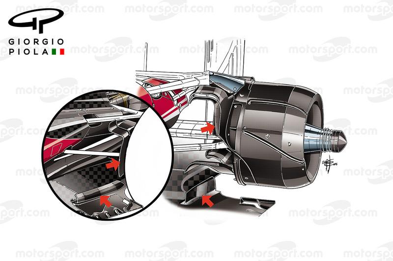 مقارنة قناة تهوية المكابح الخاصة بسيارة فيراري اس.اف16-اتش فى البرازيل