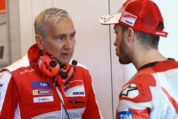 Andrea Dovizioso, Ducati Team, Davide Tardozzi, Ducati Team Team Principal