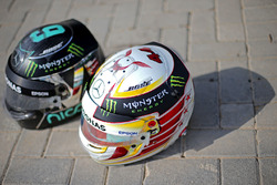 Nico Rosberg és Lewis Hamilton sisakja, Mercedes AMG F1