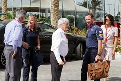 Chase Carey, Formula One Group Chairman; ; Bernie Ecclestone; Christian Horner, Red Bull Racing Team Principal; Fabiana Flosi