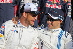 Jenson Button, McLaren F1 y Felipe Massa, Williams F1 Team