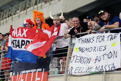 Fans of Max Verstappen, Red Bull Racing in the grandstand