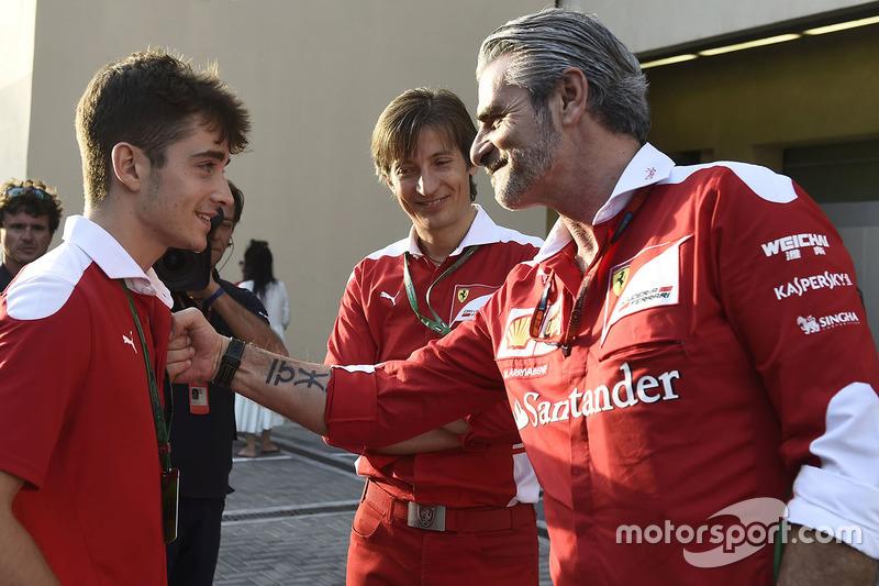 Шарль Леклер, Мауріціо Аррівабене, керівник Ferrari Team