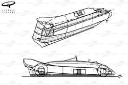 Lotus 88 1981 года: аэродинамическая схема