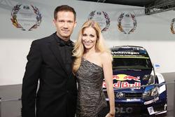Sébastien Ogier y su esposa Andrea Kaiser