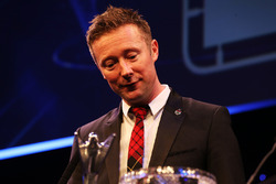 Gordon Shedden accepts the award for National Driver of the Year