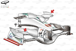 Honda RA108 2008 Monaco front wing and nose