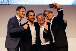 Marco Wittmann; Timo Glock; Stefan Reinhold, Team Principal BMW Team RMG and Augusto Farfus