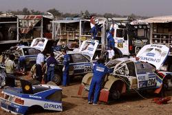 Teambereich von Peugeot