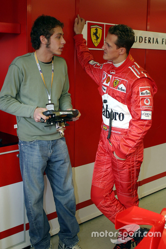 Валентино Россі і Міхаель Шумахер, Ferrari