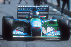 Race winner Michael Schumacher, Benetton